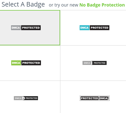 Select DMCA badge