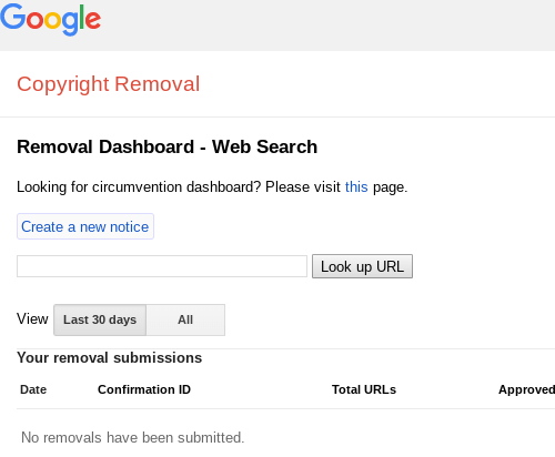 Google DMCA removal