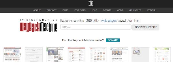 Use WayBack Machine